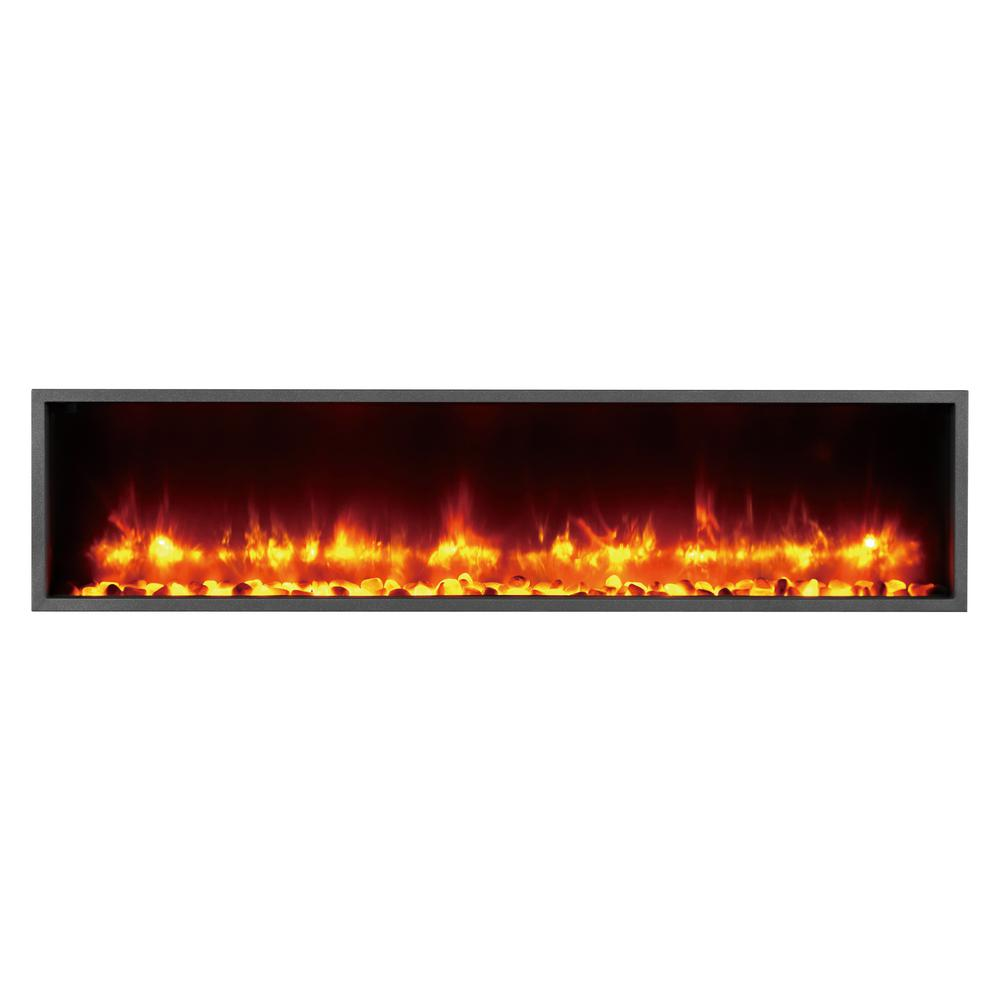 Dynasty Fireplaces 55 In Built In Led Electric Fireplace