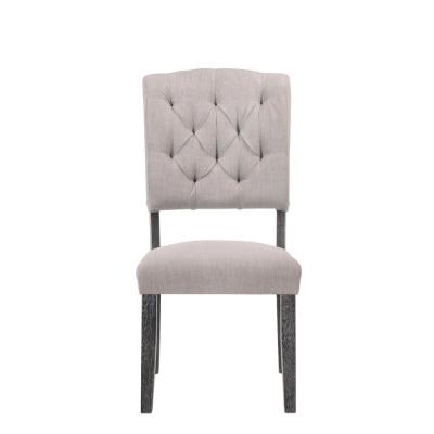 Fabric and Weathered Gray Oak Bernard Side Chair (Set of 2)