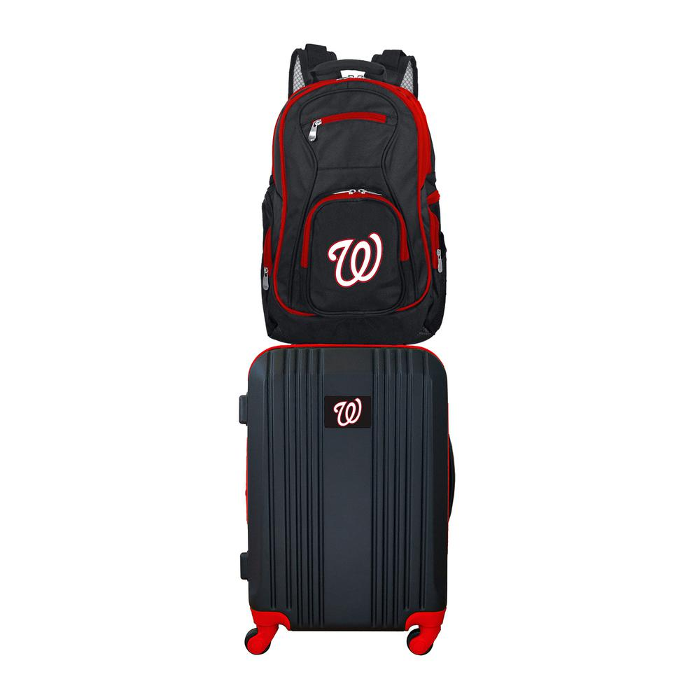 MLB Washington Nationals 2-Piece Set Luggage and Backpack