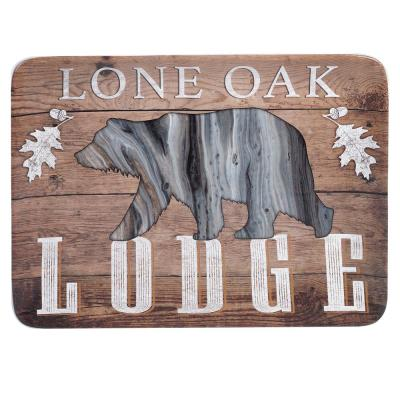 Fluidity Lodge Rectangular 16 in. Multicolored Platter