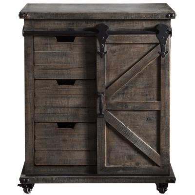 Presley 3-Drawer Driftwood Grey with Door Side Cabinet