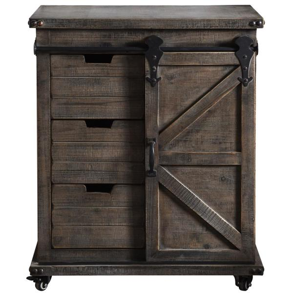 Stylecraft Presley 3 Drawer Driftwood Grey With Door Side
