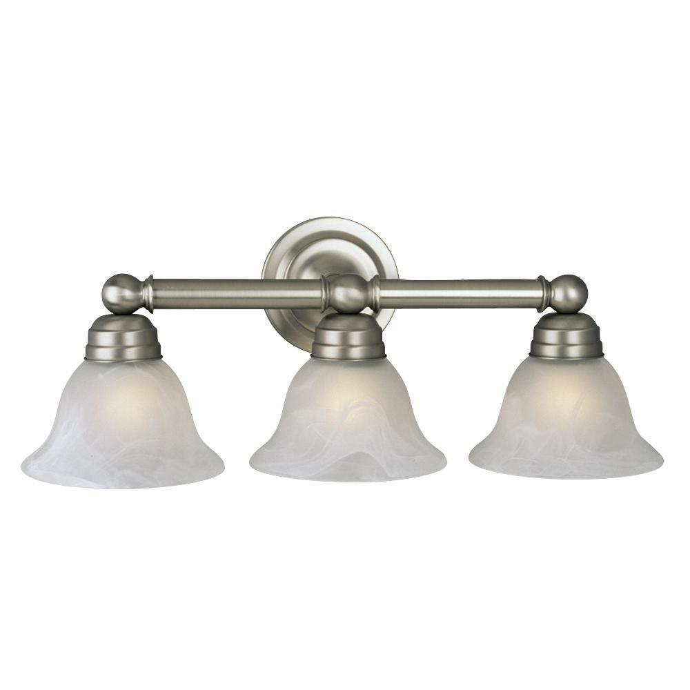 Negron 3-Light Pewter Incandescent Bath Vanity Light