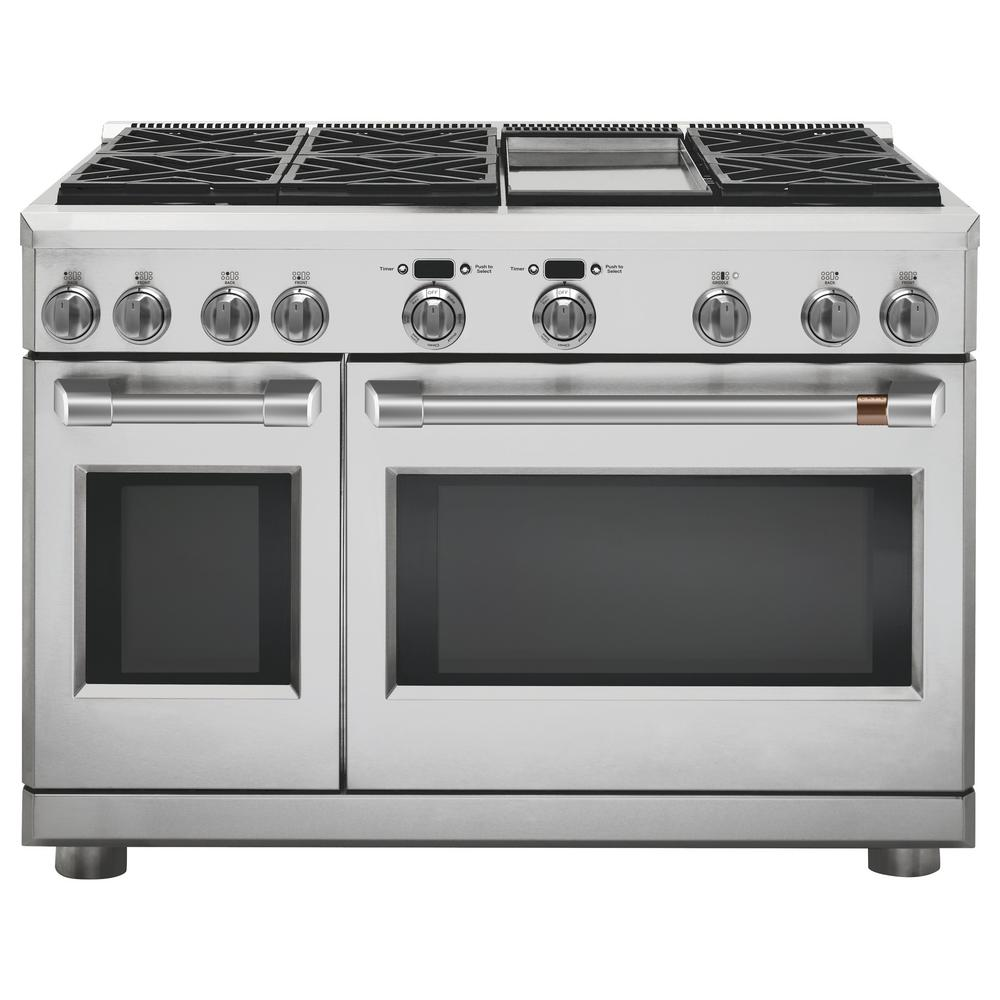 48 in. 8.25 cu. ft. Double Oven Dual Fuel Range with