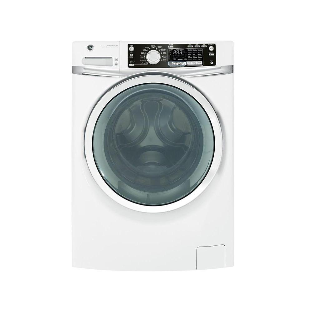 GE 4.5 DOE cu. ft. Front Load Washer with Steam in White, Plus ENERGY STAR