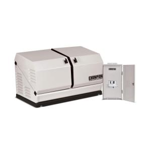Click here to buy Champion Power Equipment 8,500-Watt Air Cooled Standby Generator with 50 Amp NEMA 3 and 10 Circuit Transfer Switch by Champion Power Equipment.
