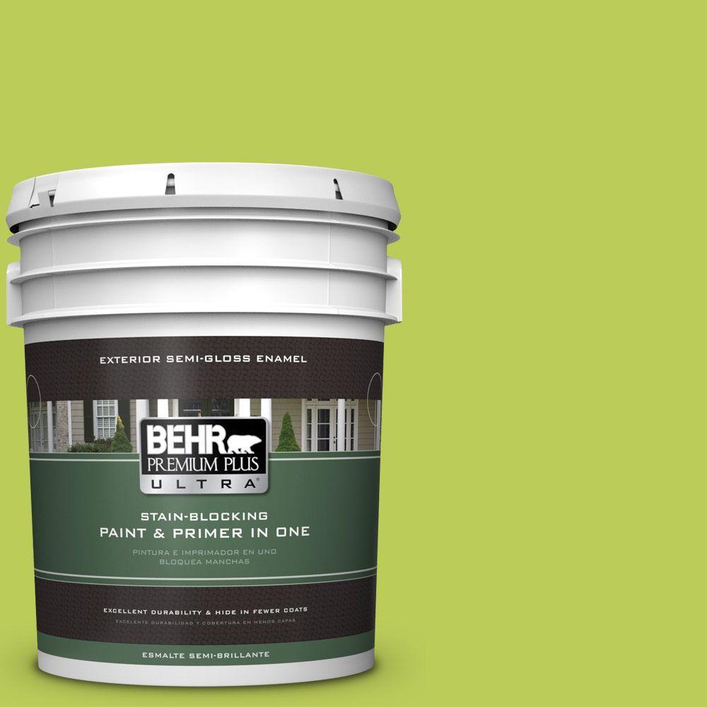 BEHR Premium Plus Ultra 5-gal. #410B-5 Hidden Meadow Semi-Gloss Enamel Exterior Paint