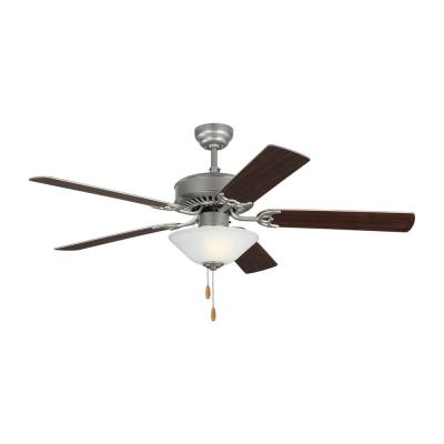 Haven LED 2 52 in. Indoor Brushed Pewter Ceiling Fan with Light Kit