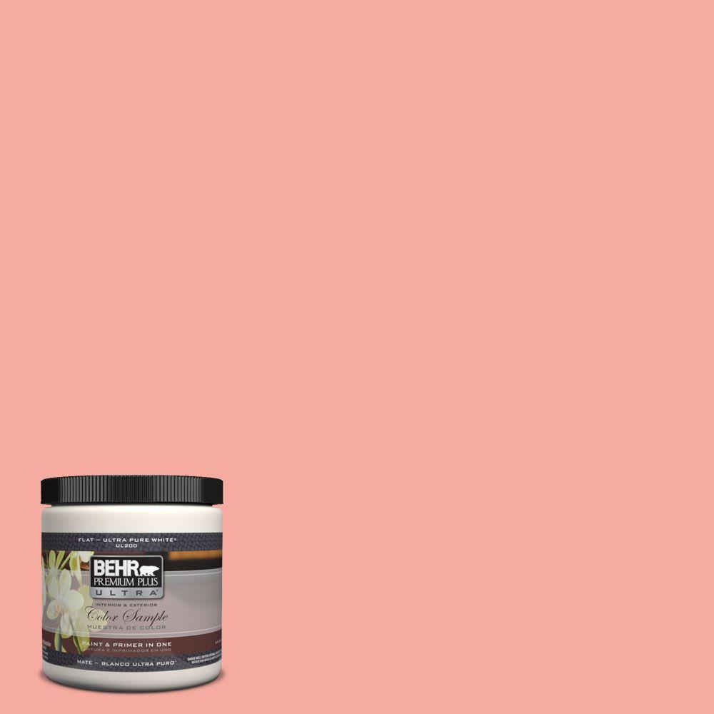 BEHR Premium Plus Ultra 8 oz. #190D-4 Rosy Outlook Matte Interior ...