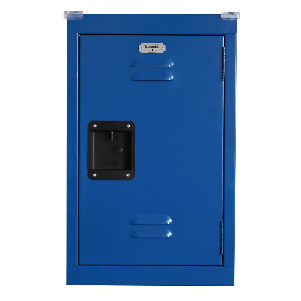 Sandusky 24 in. H x 15 in. W x 15 in. D 1-Tier Steel Locker in Ocean