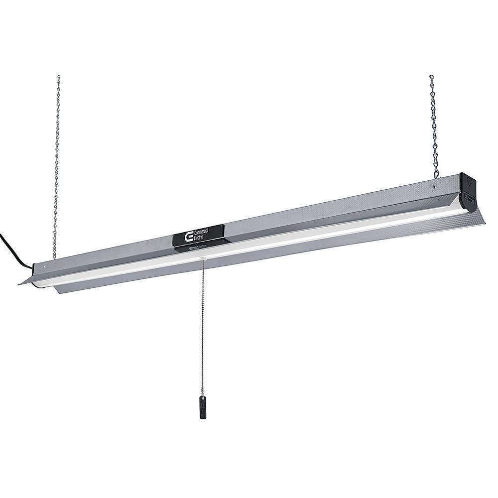 Commercial Electric 4 ft. Bright White Integrated LED Linkable Shop ...