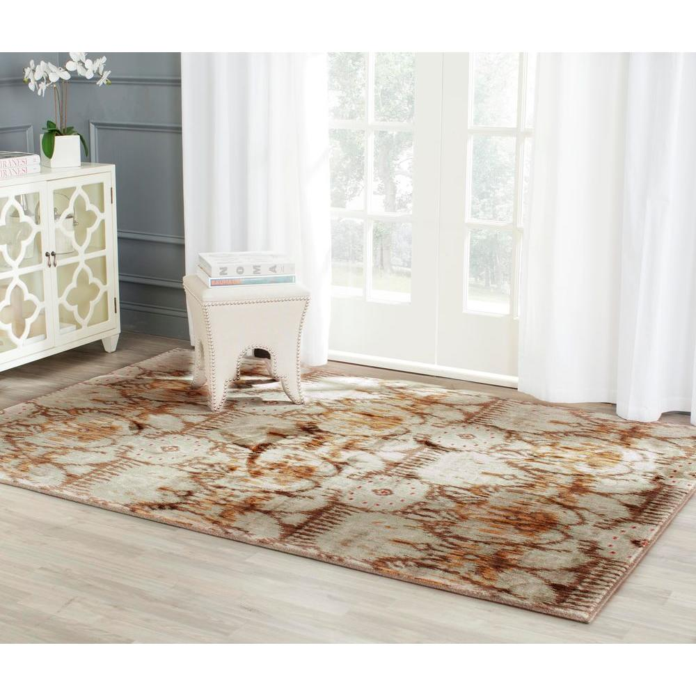 Infinity Green/Brown 8 ft. x 10 ft. Area Rug