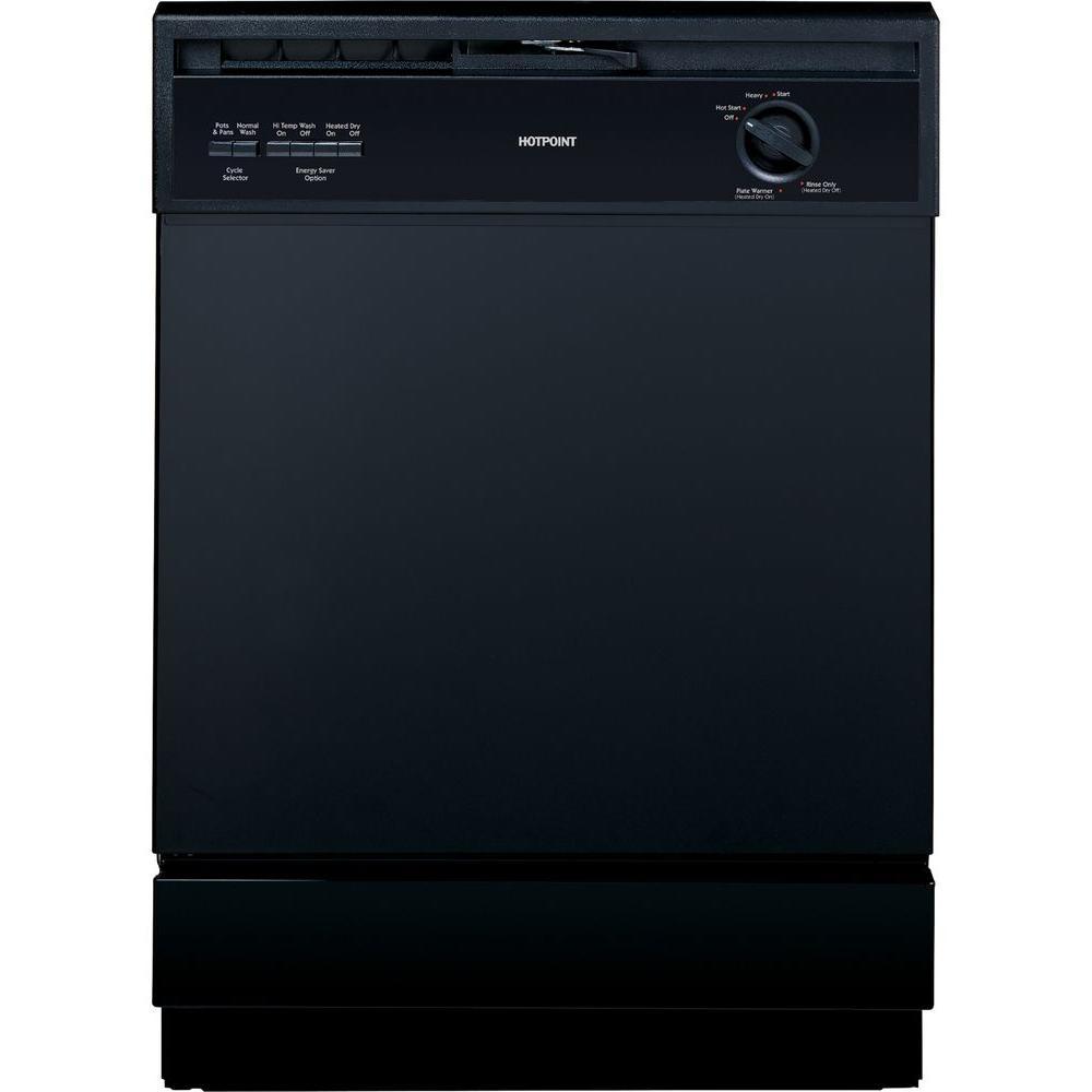 Hotpoint Front Control Dishwasher In Black Hda3600hbb
