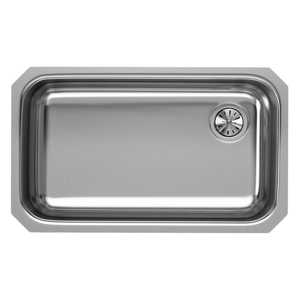 Single Bowl Undermount Kitchen Sink With Offset Drain Stainless Steel