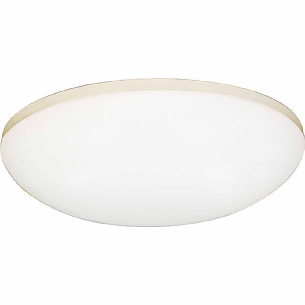 Filament Design Lenor 3-Light White Fluorescent Ceiling Flush Mount