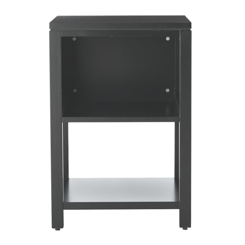 Craft Space 21 in. W 2-Shelf Storage Console in Silhouette