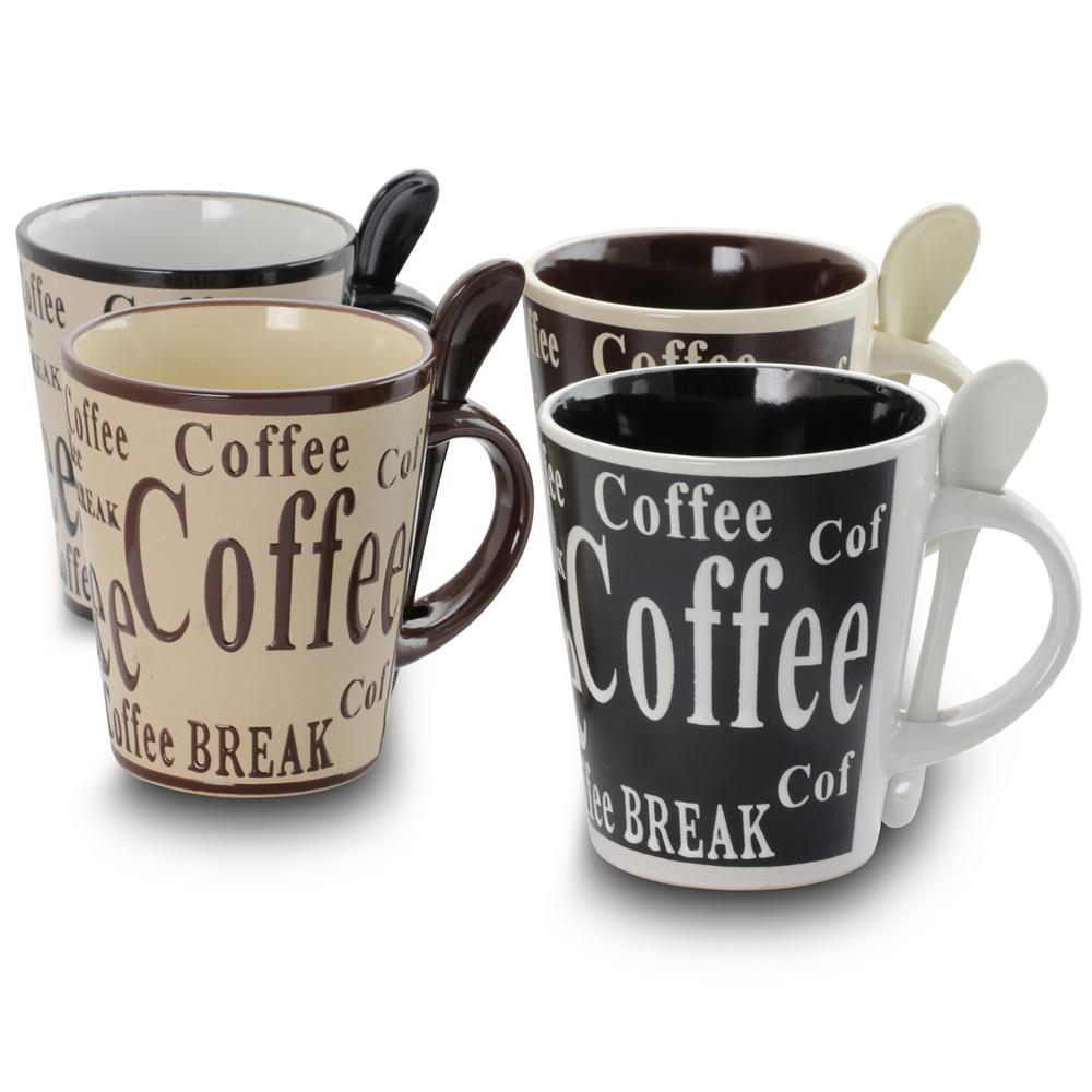 Gibson Bareggio 12 Oz Coffee Mugs Set Of 4