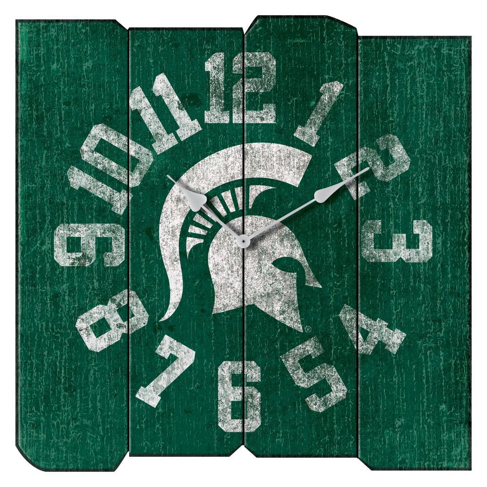 Michigan State Vintage Square Clock