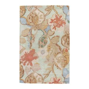 Clemens Hand-Tufted Green/Multicolor 5 ft. x 8 ft. Floral Area Rug