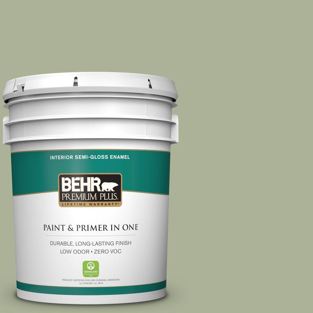 BEHR Premium Plus Home Decorators Collection 5-gal. #HDC-CT-28 Cottage Hill Zero VOC Semi-Gloss Enamel Interior Paint