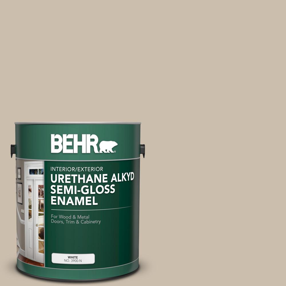 BEHR 1 gal. Home Decorators Collection #HDC-AC-10 Bungalow Beige Urethane Alkyd Semi-Gloss Enamel Interior/Exterior Paint