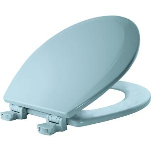Bemis Lift-Off Round Closed Front Toilet Seat in Dresden Blue by BEMIS