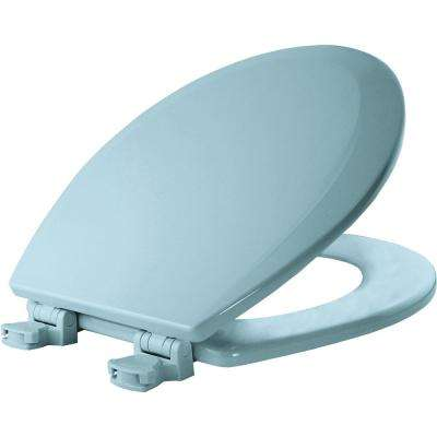 Lift-Off Round Closed Front Toilet Seat in Dresden Blue