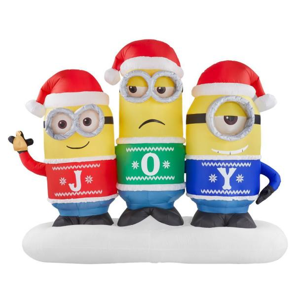 5.25 ft. Inflatable Minion Joy Collection Scene