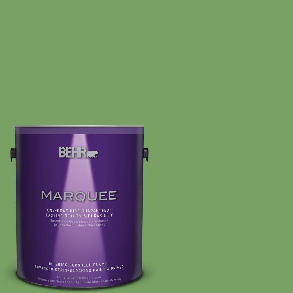 1 gal. #MQ4-47 Parakeet One-Coat Hide Eggshell Enamel Interior Paint
