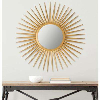 Sun Flair 36 in. x 36 in. Iron, Glass and MDF Wood Framed Mirror