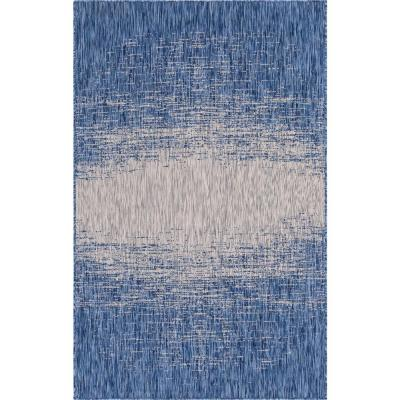 Abstract Blue Outdoor Rugs Rugs The Home Depot