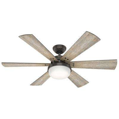 Calvary 52 in. LED Indoor Noble Bronze Ceiling Fan with Light Kit and Handheld Remote