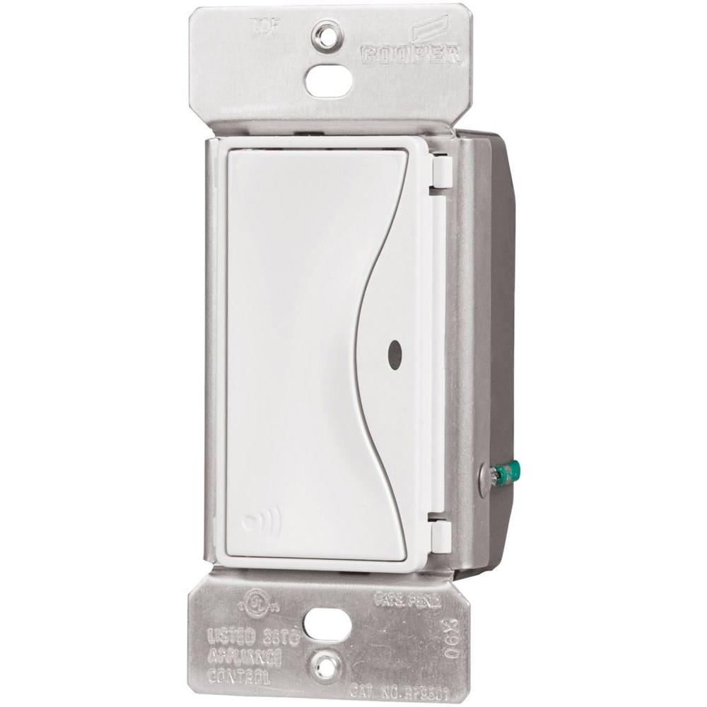 Wireless Home Lighting: Eaton Aspire 15 Amp RF Single-Pole Wireless Light Switch