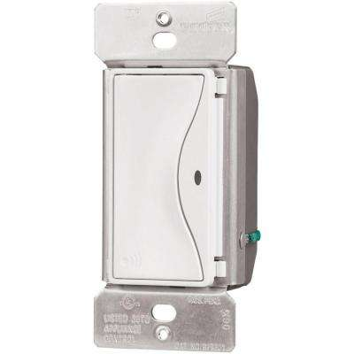 Aspire 15 Amp RF Single-Pole Wireless Light Switch, Alpine White