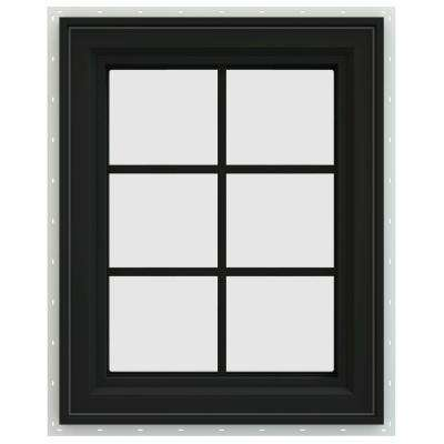 23.5 in. x 35.5 in. V-4500 Series Right-Hand Casement Vinyl Window with Grids - Bronze