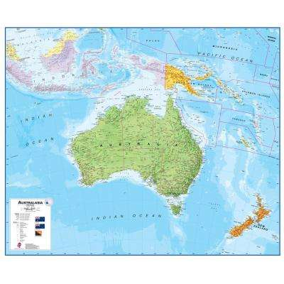 Australasia 1:7 Wall Map