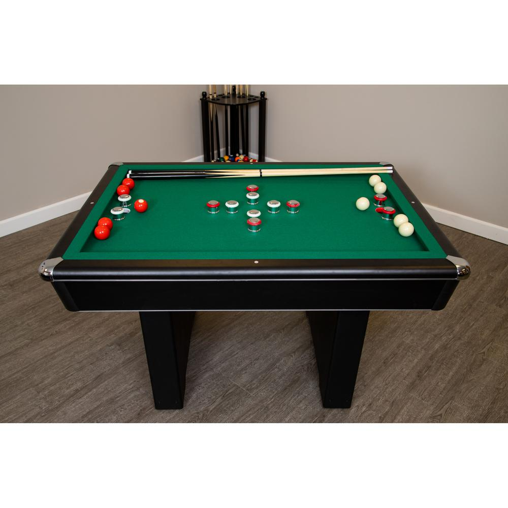 Hathaway Renegade 54 In Slate Per Pool Table For Family Rooms With Green Felt 48 Cues Brush And Chalk