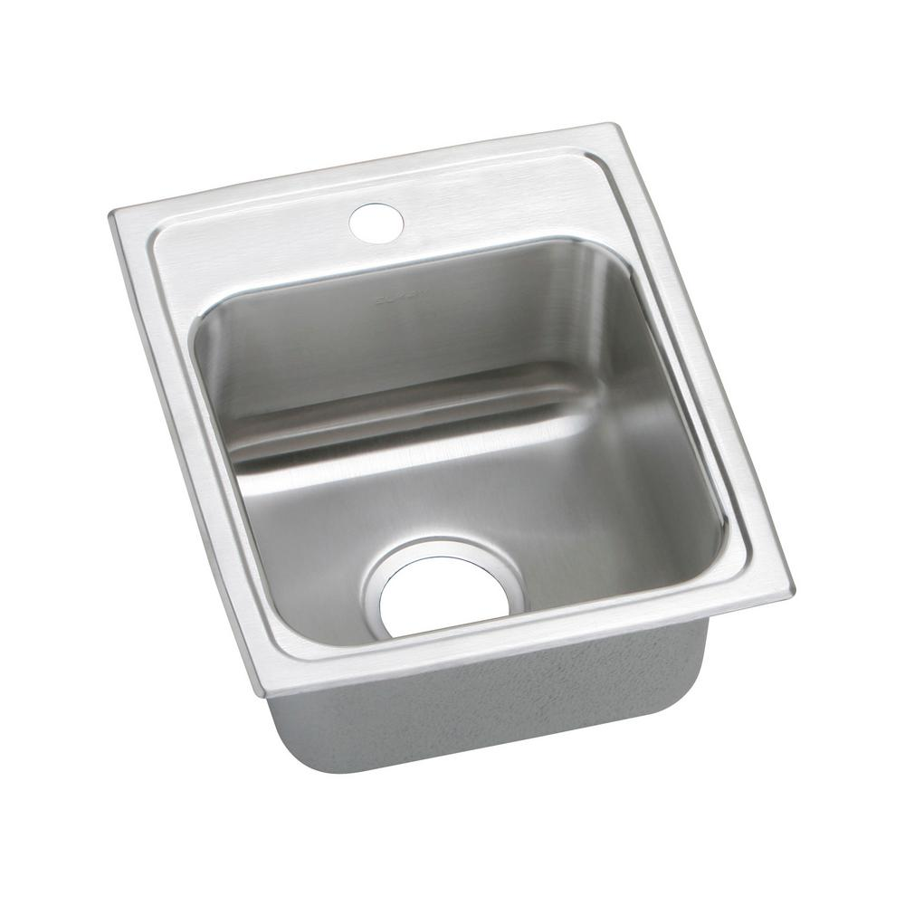 Ordinaire Elkay Lustertone Drop In Stainless Steel 15 In. 1 Hole Bar Sink In
