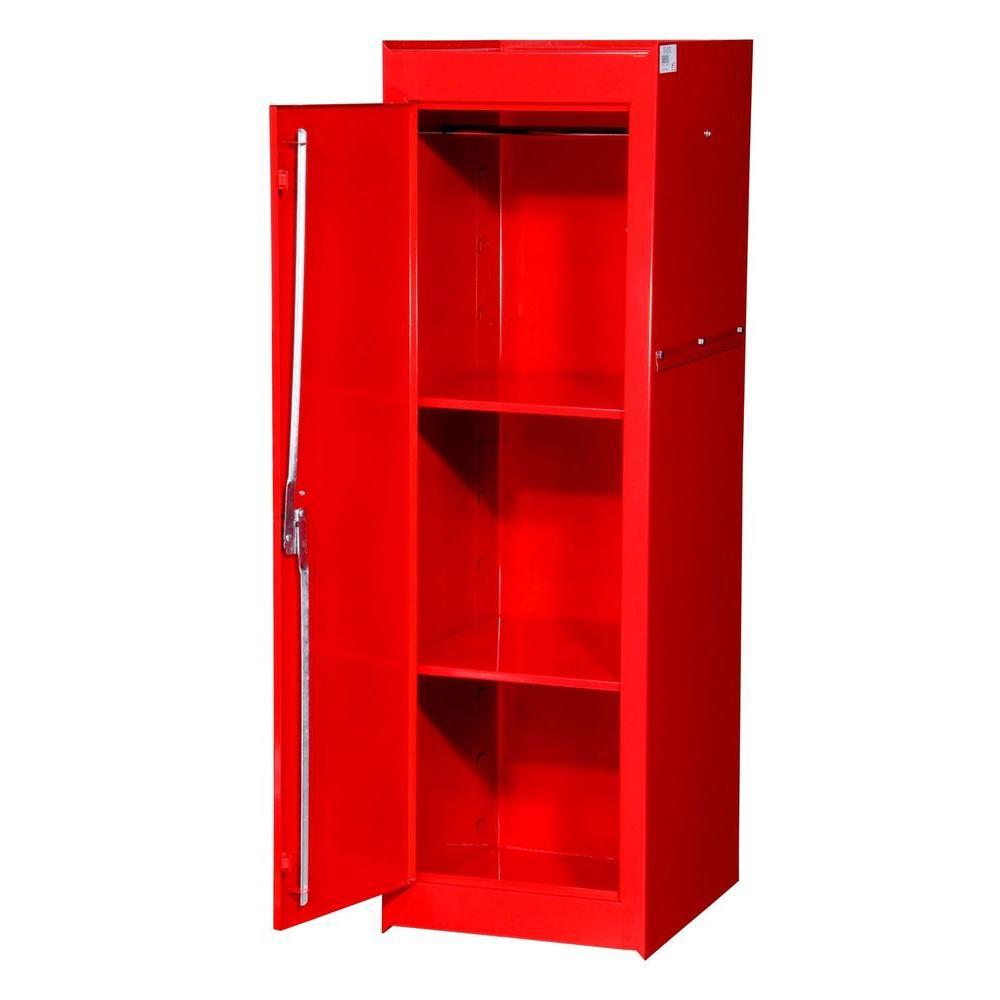 International Tech Series 15-3/8 in. 2-Shelf Full Side Locker, Red