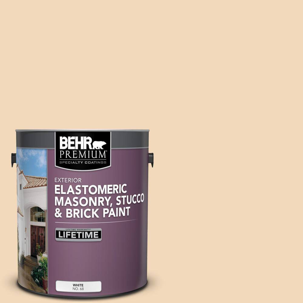 BEHR Premium 1 gal. #M250-2 Golden Pastel Elastomeric Masonry, Stucco and Brick Exterior Paint