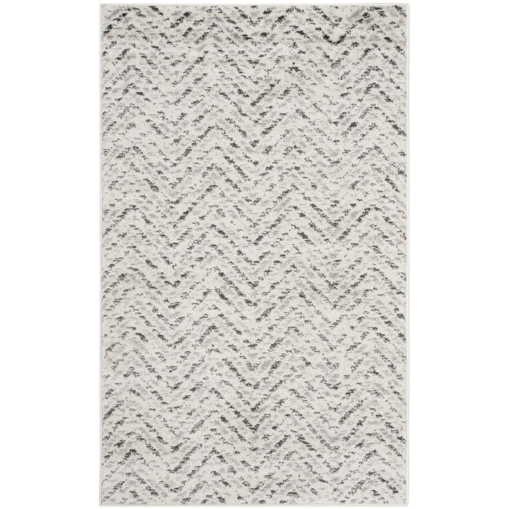 Adirondack Ivory/Charcoal 3 ft. x 5 ft. Area Rug