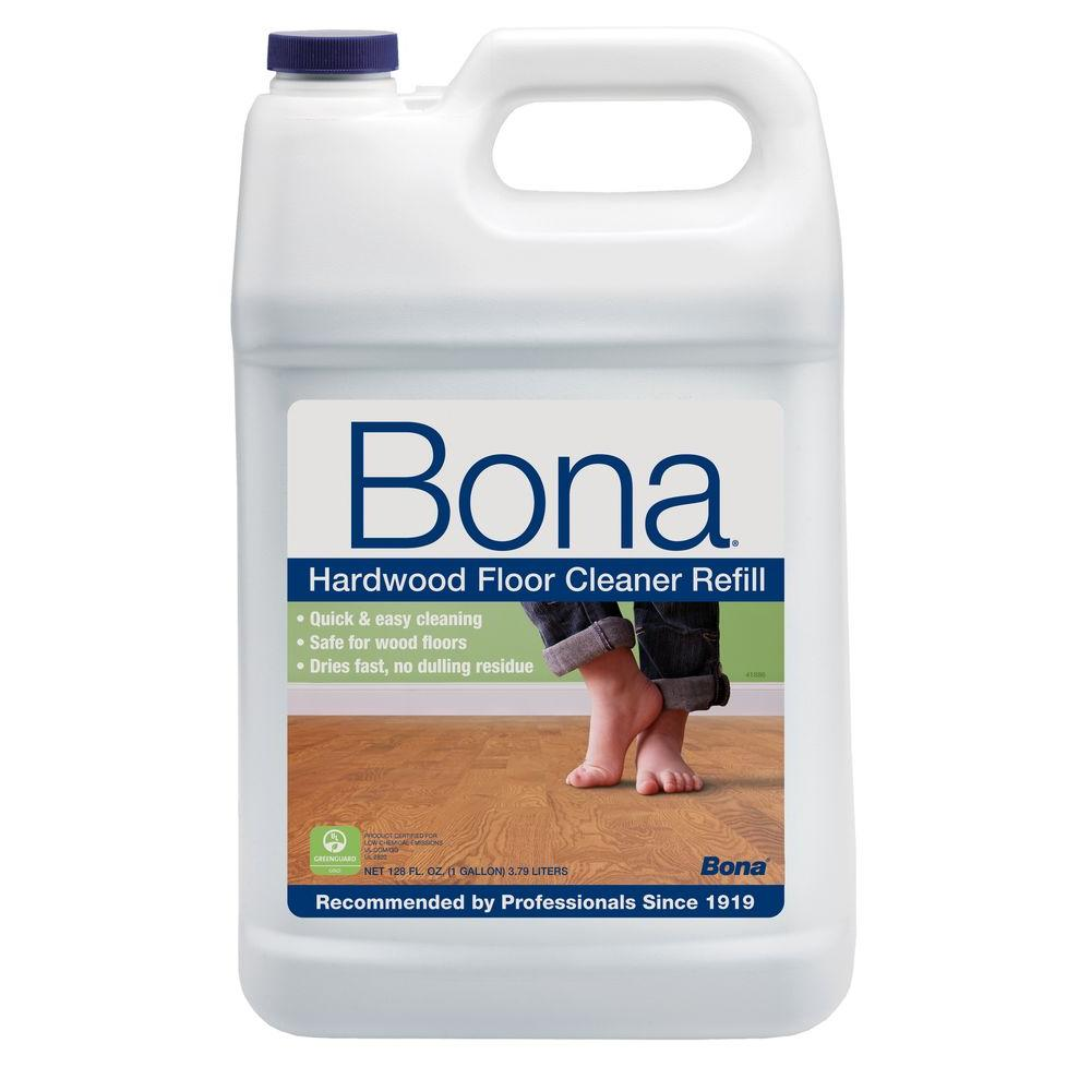 Bona 128 oz hardwood cleaner wm700018159 the home depot for Wood floor cleaner bona