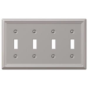 chelsea 4 toggle wall plate brushed nickel