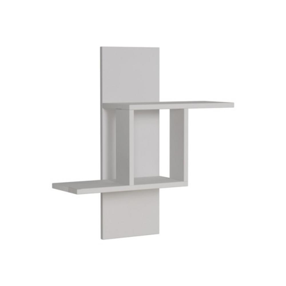 Ada Home Decor Waverley White Mid-Century Modern Wall Shelf DCRW2131
