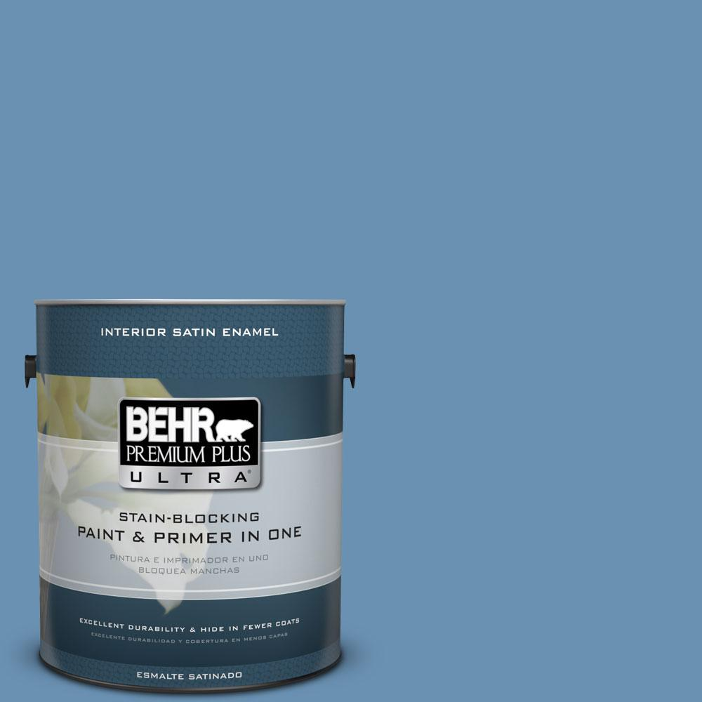 1-gal. #M510-4 Brittany Blue Satin Enamel Interior Paint
