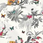 Mystical Forest White Paper Strippable Wallpaper (Covers 57.26 sq. ft.)
