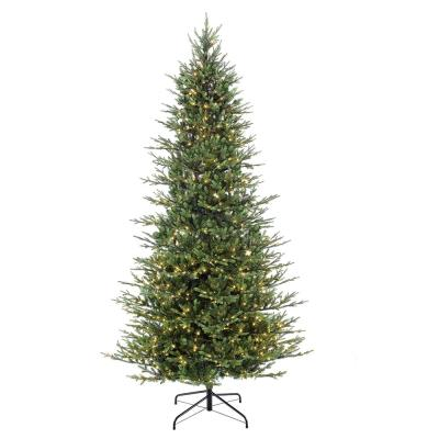 9 ft. Pre-Lit Slim Balsam Fir Artificial Christmas Tree with 800 UL-Listed Clear Incandescent Lights