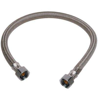 1/2 in  Compression x 1/2 in  FIP x 20 in  Braided Polymer Faucet Connector