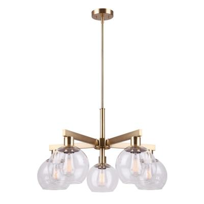 Landry 5-Light Gold Chandelier with Clear Glass Shades