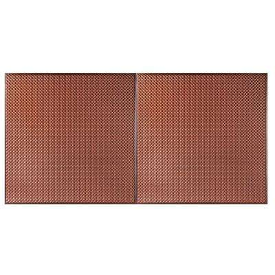 Kingsbridge 2 ft. x 4 ft. Lay-in or Glue-up Border Ceiling Tile in Antique Copper (80 sq. ft. / case)